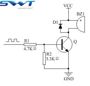 无源蜂鸣器驱动电路-无源蜂鸣器常规驱动电路
