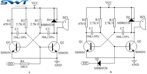 无源蜂鸣器驱动电路改进(图为无源蜂鸣器控制电路)