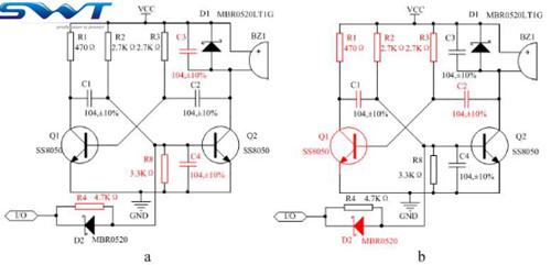 关于无源蜂鸣器驱动电路兼容设计
