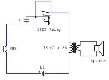 压电蜂鸣器与小型蜂鸣器制作原理图